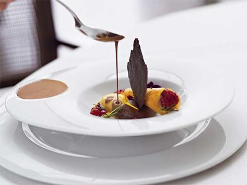 Vajilla hosteleria alta gastronomia plato ovo serie orbe for Platos de alta cocina
