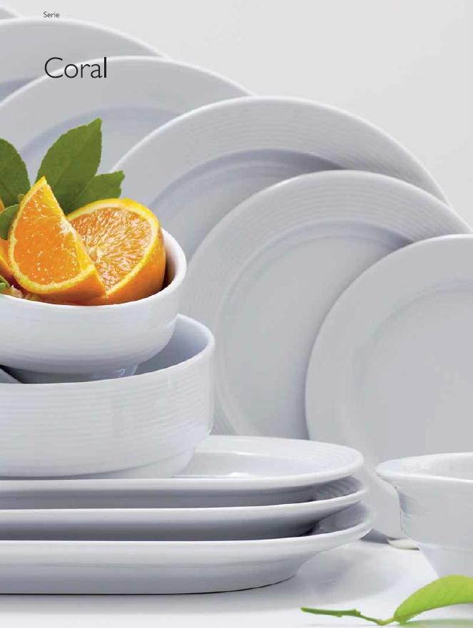 Vajilla hosteleria platos blancos platos porcelana coral for Platos porcelana