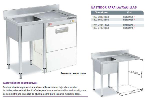 Maquinaria hosteleria maquinaria restaurantes equipamiento for Altura desague fregadero