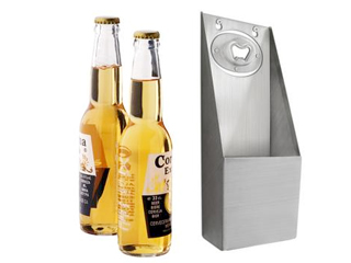 Abrebotellas de pared inox, descapsuladores